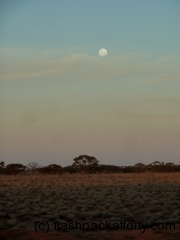 moonrise from the Ghan