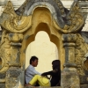 lovers at inwa temples