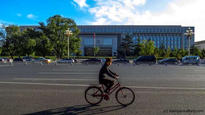cyclist-and-museum-beijing