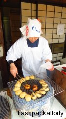 Oyster rice cakes made Miyajima