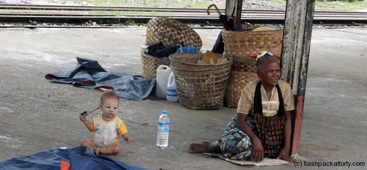 mandalay yangon train station baby