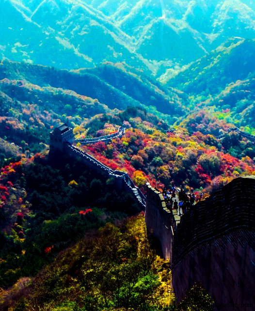 autumn-colours-great-wall-of-china-badaling