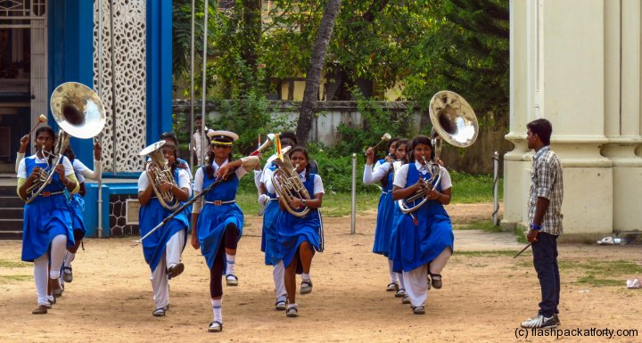 fort-kochi-girls-brass-band-practice