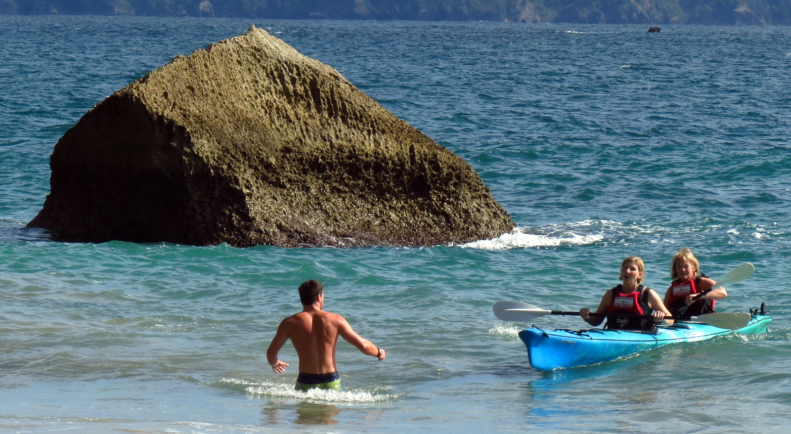 Kayak and Helper Cathedral Cove