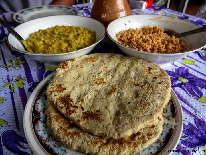 coconut-roti-and-sambal-with-dal-sri-lankan-breakfast