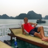 john relaxing halong bay junk