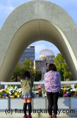 Hiroshima peace park remembering