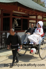 Wedding rickshaw Miyajima