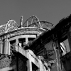 Hiroshima Peace Memorial monochrome