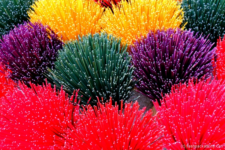 Incense sticks colourful