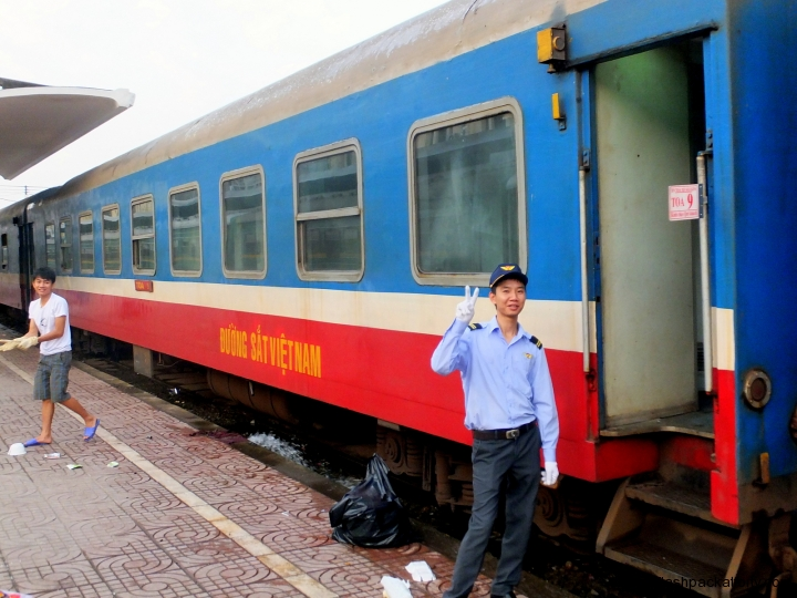 Vietnamese train guard