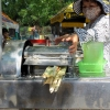 Sugar cane juice press