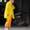 Mellow yellow monk in Vietnam