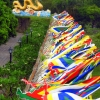 Colourful flags hue citadel