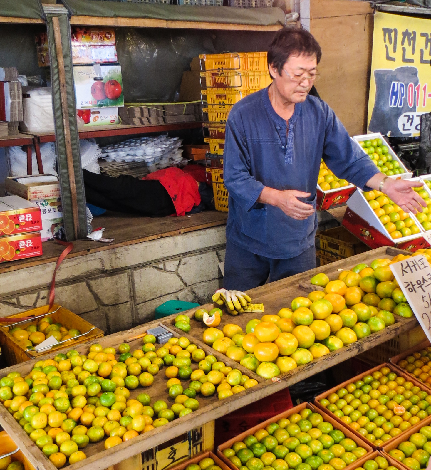 five-day-market-trader-with-jeju-tangerines