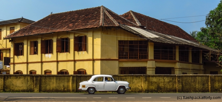 ambassador-and-yellow-building-fort-kochi