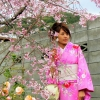 Blossom woman Kyoto Philosophers path