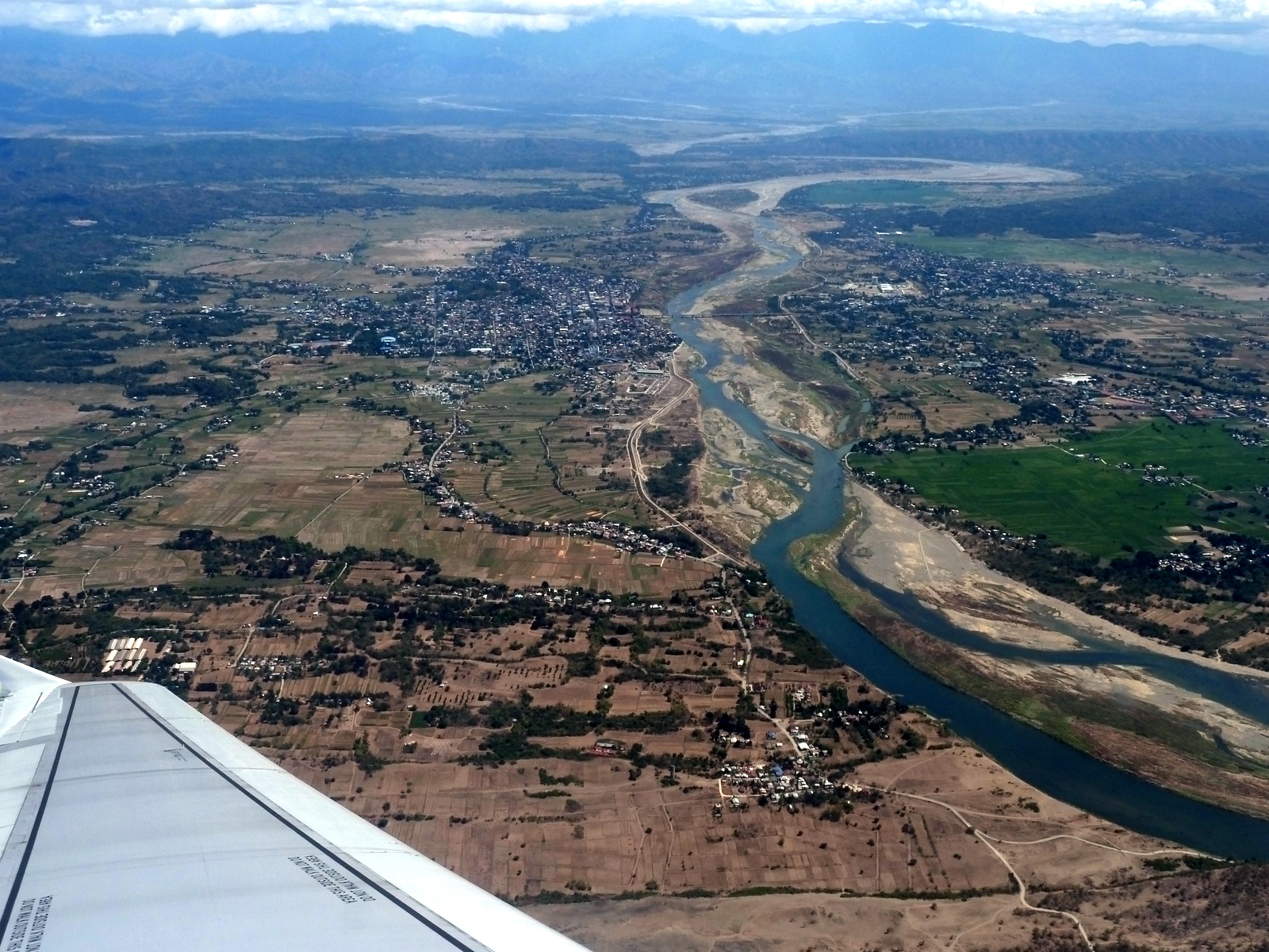 Laoag from he air