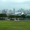 Manila skyline from airport