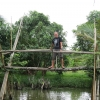 Mekong river monkey bridge