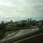Arriving to a rather cloudy Melbourne