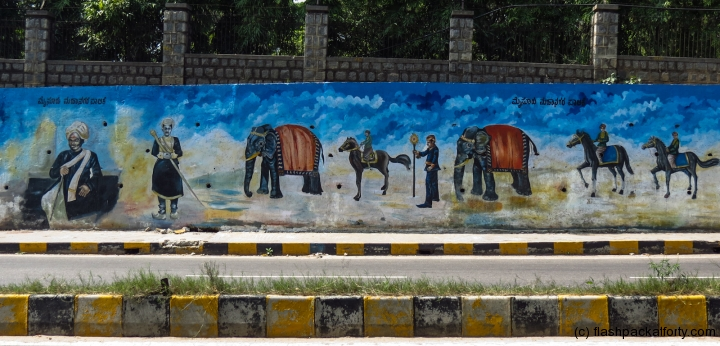 elephant-mural-mysore-india