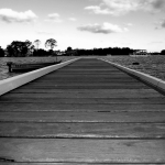 Noosa Marina Pier BW