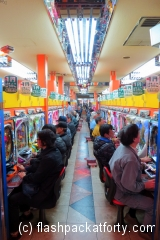 Japanese gambling machines sloties pokies Osaka
