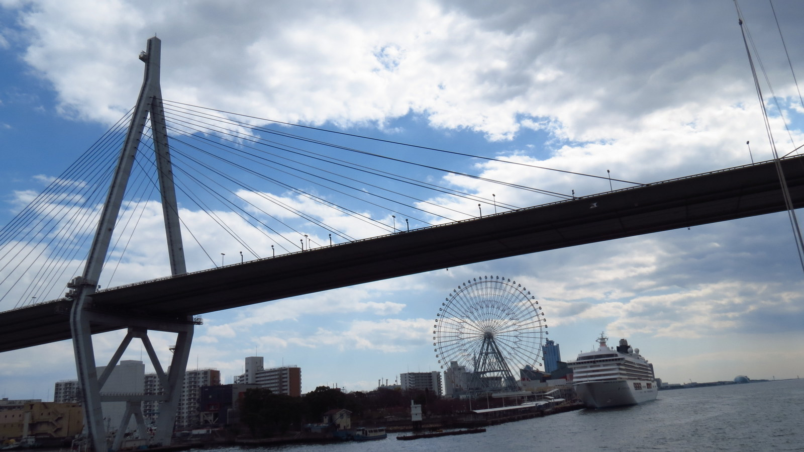 Osaka bridge cloud