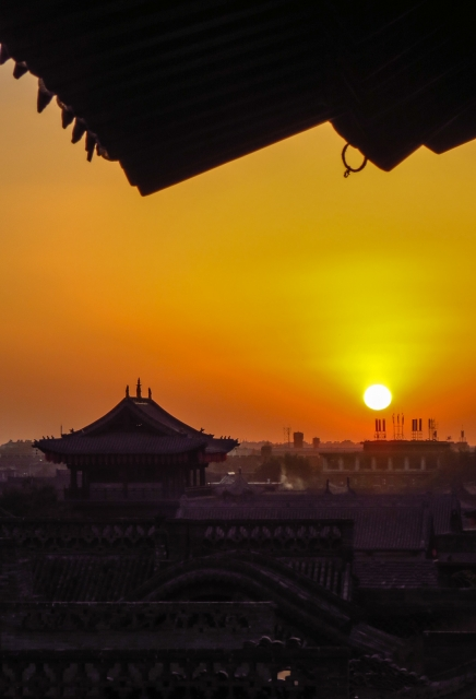 pingyao-sunset-from-city-tower