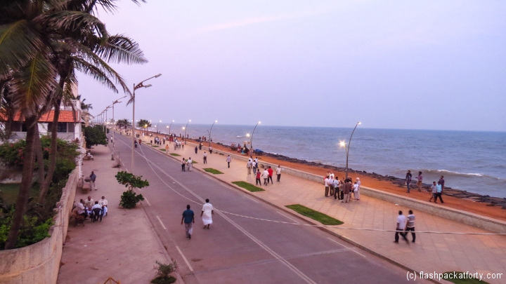 pondicherry-promenade-at-sunset