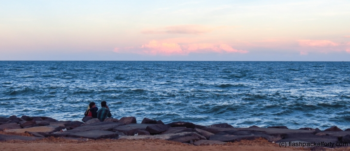 pondicherry-beach-sunset