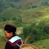 Sapa woman in mountains
