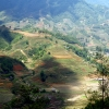 Sapa mountain aerial