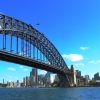 Sydney Harbour Bridge  under angled