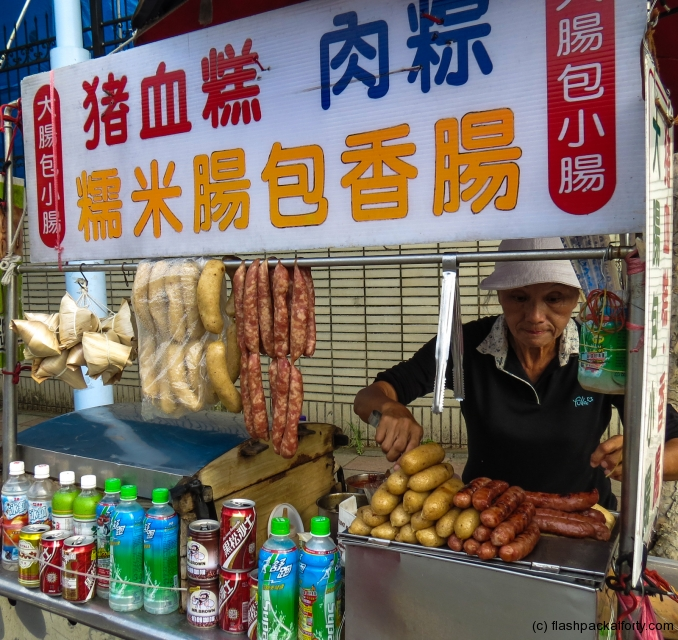 double-sausage-vendor-taipei