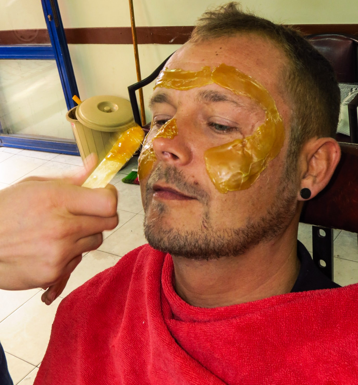 Barber Wax : Male Pampering, Getting a Shave in Turkey : Flashpacking Travel Blog