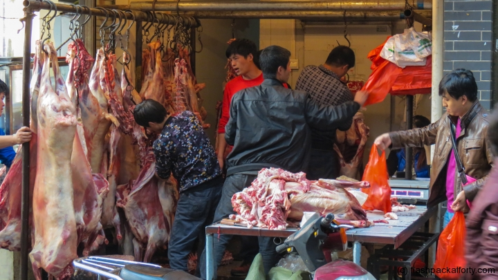 butchery-in-action-xian-muslim-quarter