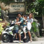 Family of four on a moped