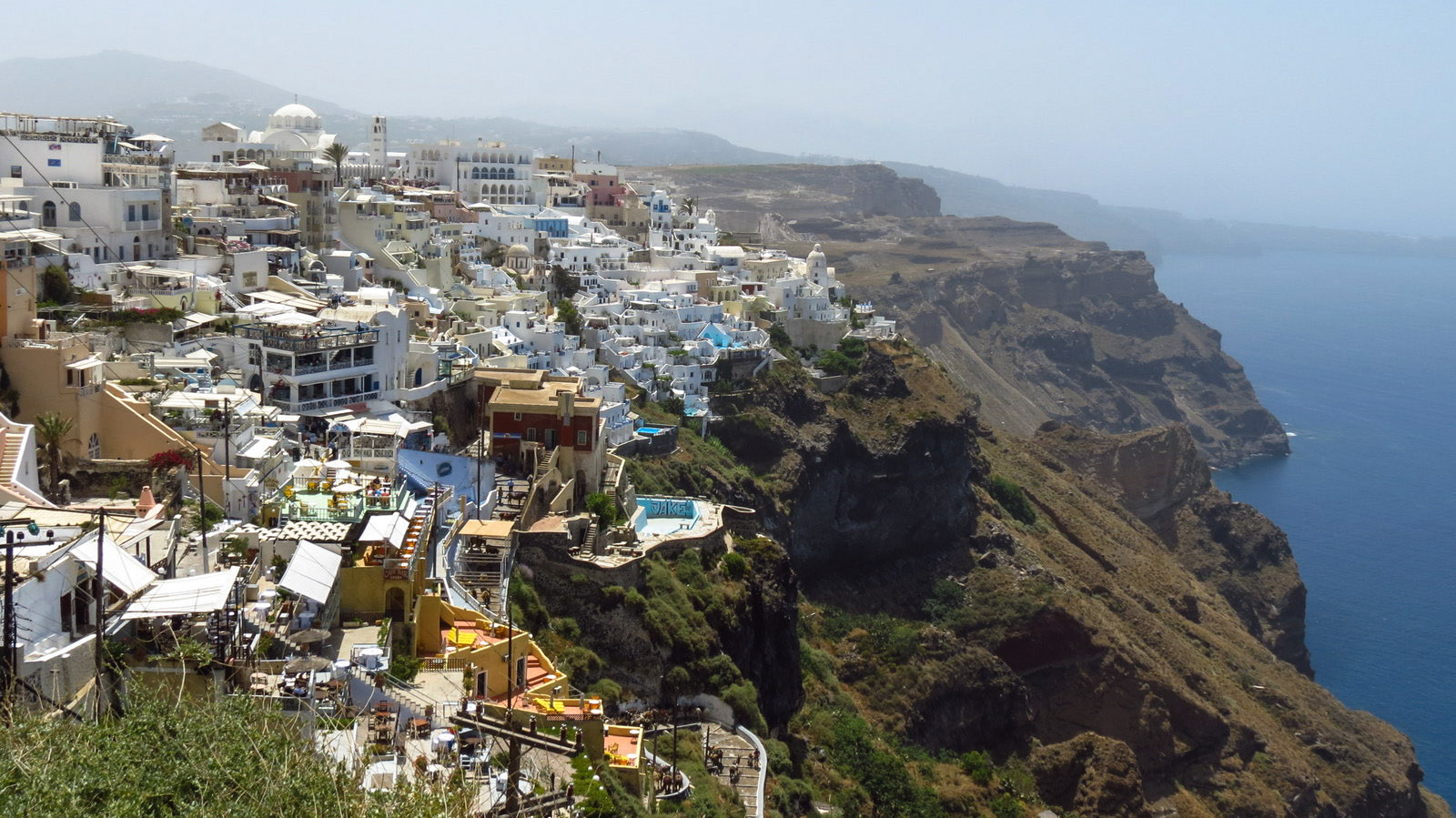 caldera fira santorini   flashpacking travel blog
